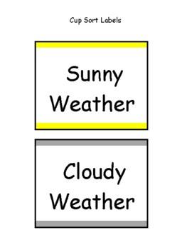 Weather Cup Sort