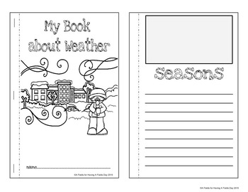 Weather Cut and Paste Matching Mini Booklet