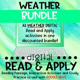 Weather DIGITAL Read and Apply BUNDLE for Distance Learning