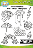 Weather Dab-A-Dot Markers Graphics Clipart {Zip-A-Dee-Doo-Dah Designs}