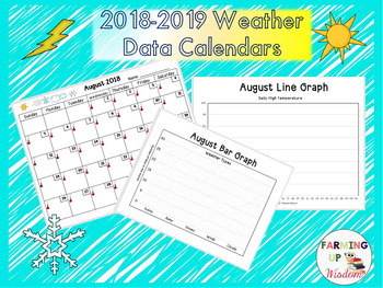 Weather Data Calendars & Graphs 2018-2019