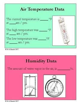 Weather Data Collection Cards