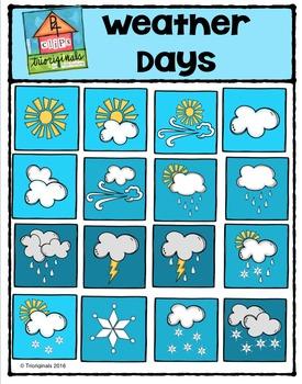 Weather Days (P4 Clips Trioriginals Digital Clip Art)