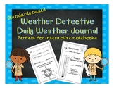 Weather Detectives Daily Weather Journal