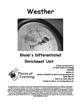 Weather - Differentiated Blooms Enrichment Unit