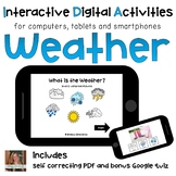 Weather ⋅ Digital PDF ⋅ Interactive Activities for Special