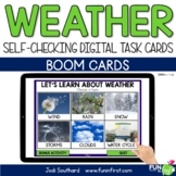 Weather - Digital Task Cards | Boom Cards | Distance Learning