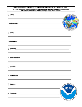 Weather Disaster Puzzle (Vocabulary, Science / LA)
