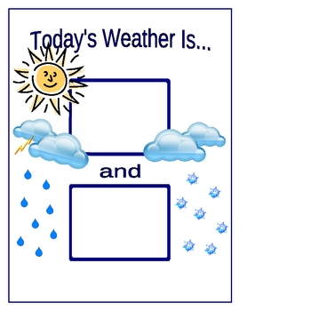 Weather Display / Graph / Pieces / Chart for Calendar w/ Sign Language