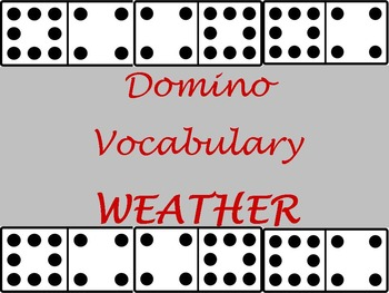 Weather - Domino Vocabulary Cards