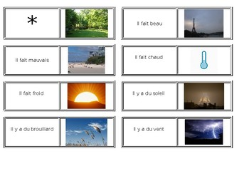 Weather Dominoes