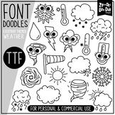 Weather Doodle Font {Zip-A-Dee-Doo-Dah Designs}