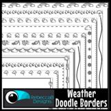 Weather Doodle Page Borders Clip Art