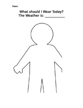 Weather Dressing Worksheet