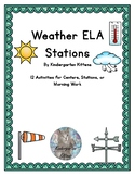Weather Literacy Stations for Kindergarten