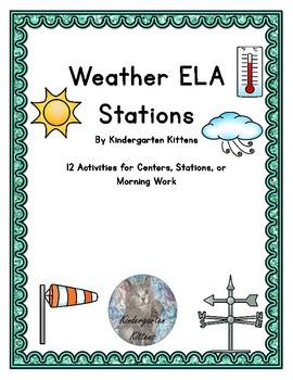 Weather Literacy Stations for Kindergarten
