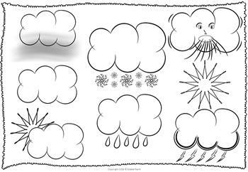 Weather ESL Flashcards - Symbols, Words and Sentences