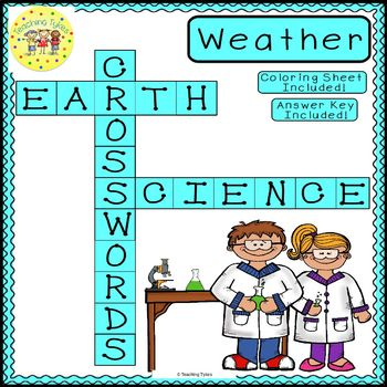 Weather Crossword Coloring Puzzle