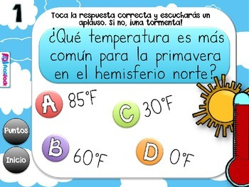 Weather El Clima SPANISH PowerPoint Game