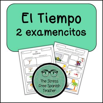 Weather, El Tiempo, El Clima: Spanish Weather 2 QUIZZES (or writing practice!)