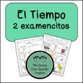 Weather, El Tiempo, El Clima: Spanish Weather 2 QUIZZES (or writing practice!)