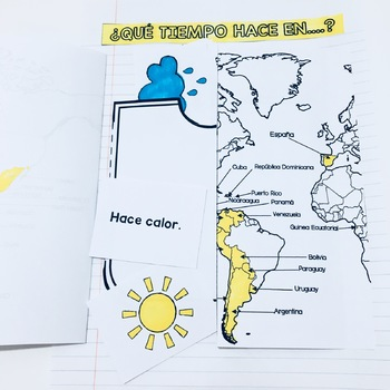 Weather / El Tiempo Interactive Notebook Activity