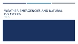 Health: Weather Emergencies and Natural Disasters PowerPoint