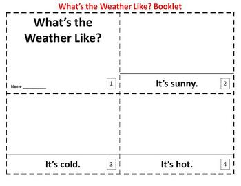 Weather Emergent Reader 2 Booklets - What's the Weather Like?