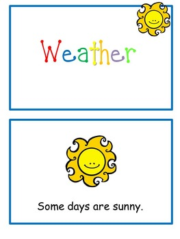 Weather Emergent Reader Flip Book