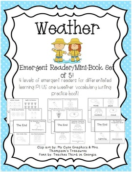 Weather Emergent Reader Mini-Book Set of 5!