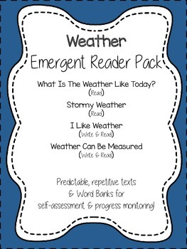 Weather {Emergent Reader Pack}