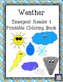 Weather Emergent Reader & Printable Coloring Book