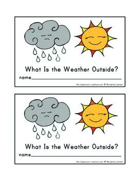 Weather Emergent Reader: What Is the Weather Outside?