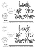 Weather Emergent Reader for Kindergarten- Science