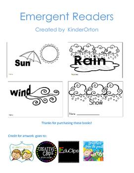 Weather Emergent Readers - Bundle