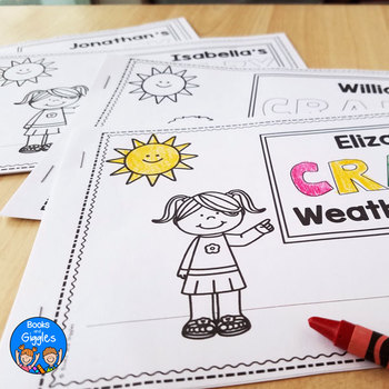 Weather Emergent Readers - Personalized Name Books