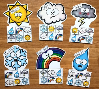 Weather Emotions Sorting Activities