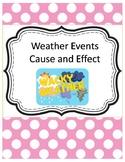 Weather Events Worksheet