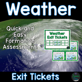 Weather Exit Tickets (Exit Slips)