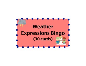 Weather Expressions Bingo