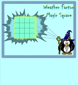 Weather Factors Magic Square - A 6th Grade Review of Weather Vocabulary