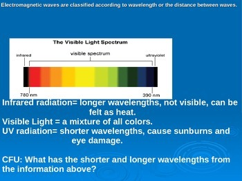 Weather Factors PowerPoint on Spectrum, Heat Transfer, Water Cycle and Clouds