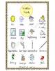 Weather File Folder Word Wall, Bingo Boards, and Word Search
