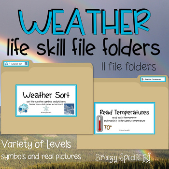 Weather File Folders for Special Education