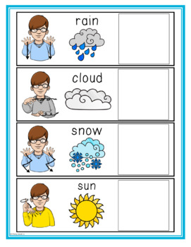 Weather Life skill and Science File Folders for Special Education