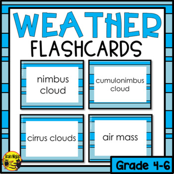 Weather Flashcards (Imperial)- Editable