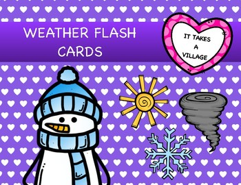 Weather Flash Cards and Puzzles