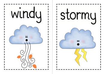Weather Flashcard Set