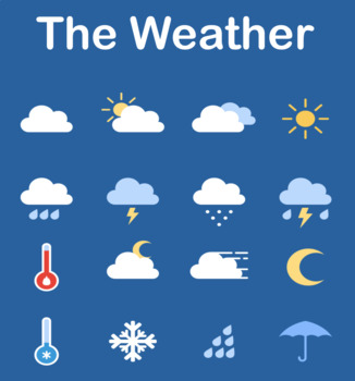 Weather Bingo, Flashcards & Poster Set