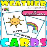 Weather Flashcards Colorful Theme Set 2